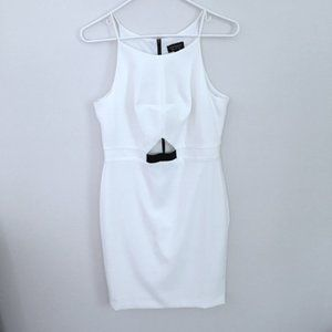 Topshop Gorgeous White Cutout Sheath Dress, Sz 8